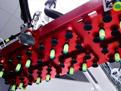 Palletera, Maskin plockar varor på pall, Front Automation