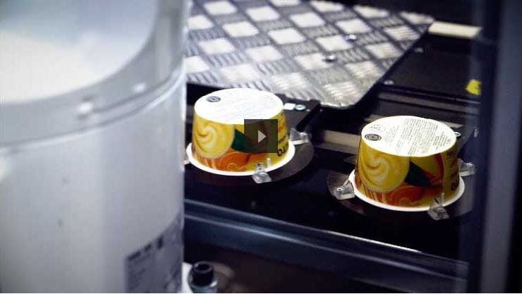 Cups On Conveyor Belt Automation 3buttongroup